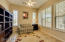 Library or office w/glass French doors