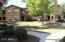 Greenbelt area below home's 2 patios