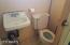 Bathroom in storage room