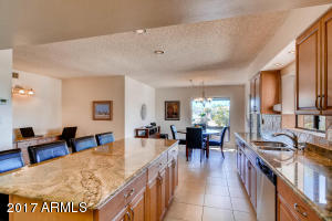 Large kitchen includes informal table dining area