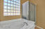 Jetted soaker tub and separate shower