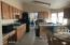 Large eat in Kitchen with lost of cupboard and counter space...