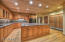 Large kitchen with Alder Cabinets, Walk-in Pantry, Dishwasher and Ice Machine