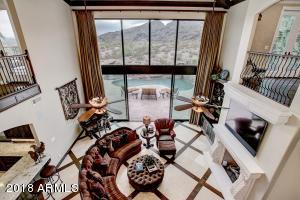 Great room opens great room to backyard outdoor living.