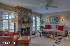 Ready to welcome you home! Come sit by the fire in the great room and relax in this breathtakingly beautifully home in Camello Vista!