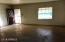 Living Room Oak colored concrete floors