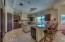 The heart of the home! Chef's kitchen with imported marble counters and top of line upgrades.