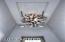 Blown glass foyer chandelier