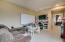 Built-in desk & book shelves
