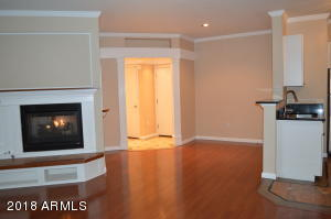 Custom Entrance. Gas fireplace in family room.