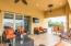 Covered back patio with fans for cool breezes