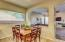 Eat-in kitchen with space for a large kitchen table!