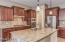Stunning Gourmet Kitchen with GE Profile stainless appliances and walk in pantry
