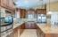 Walk-in pantry, pendant lighting, tons of cabinet space