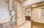 Master bathroom with walk-in shower & closet