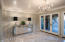 Light and Bright Dining Room with Gorgeous Marble Floor Designer Detail