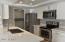 Brand new gourmet kitchen.