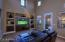FORMAL LIVING ROOM WITH SOARING CEILINGS AND CLERESTORY WINDOWS
