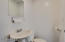 1/2 Bathroom with Pedestal Sink and Mirror is a great feature!