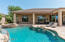 Pool View to Spa, Covered Patio and Flagstone Deck