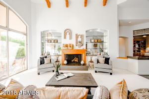 Formal sitting area and gas fireplace