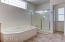 Master bathroom includes a Jet/soaking tup and walk-in shower!