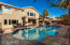The oversized remodeled pool is south facing, ensuring longer monthly use.