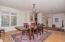 Elegant formal dining or living room
