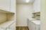 Convenient indoor laundry set up