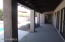 Covered patio, master Br exit door is at far end