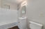 Hall Bath w/ Refinished Shower and Updated Vanity and Lighting