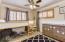 *Bedroom #1 w/ berber carpet + plantation shutters*
