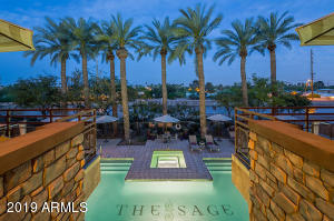 The Sage clubhouse & pool