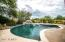 Heated Pebble tech play pool with water feature