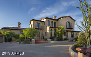 """Custom estate designed by award winning architect, Clint Miller, offers a """"Green Building"""" Certificate and luxury living in the coveted DC Ranch Country Club."""