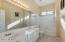 Secondary bathroom with double sinks