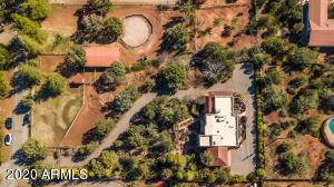 Aerial of Home and 2.5 acres