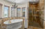 Stand alone shower & jetted soaking tub