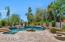 Pool/Spa and Firepit with Extensive use of Travertine Pavers