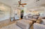 Huge open concept family room and kitchen