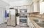 Quartz counter tops with an under mount kitchen sink