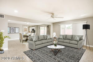 Virtually staged living room! The possibilities are endless!