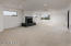 Loft space with gas fireplace