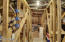 Upstairs, fully-insulated storage/unfinished room. 36x12ft with 8ft ceiling and 4ft cubbies on each side.