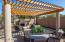 Ramada with fireplace for outdoor lifestyle we have in Scottsdale!
