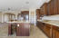 Plenty of counter space and cabinets in the kitchen