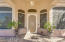 Grand Entrance with Custom Metal Screen Door