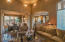 LIVING ROOM TO DINING ROOM, WET BAR, BREAKFAST ROOM & KITCHEN