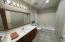 New marble vanity & mirror