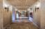 Hallway with art niches